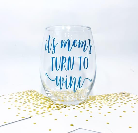 Mom Wine Glass New Mom Gift  Etsy-6403