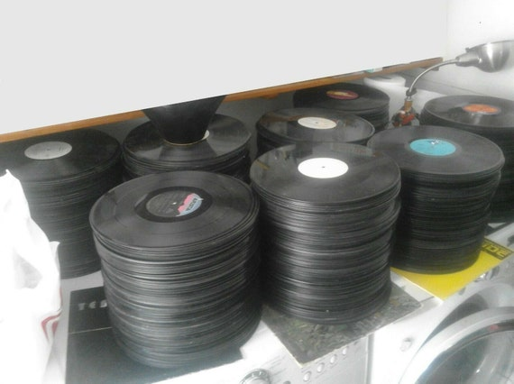 85 Bulk Records For Crafts Art Projects Free Shipping Lot Random