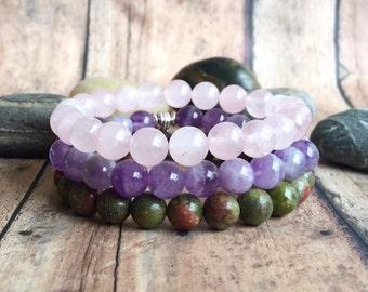 Positive Pregnancy Stack, Pregnancy Crystal Bracelet, Pregnancy Gift, Baby Shower Gift, Mom to be Bracelet, Childbirth Bracelet.