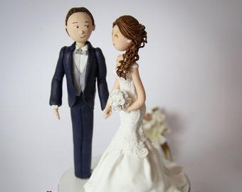 Custom wedding cake Topper in fimo