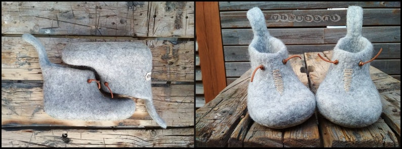 natural wool natural ruber latex  soles made to order felted kids slippers
