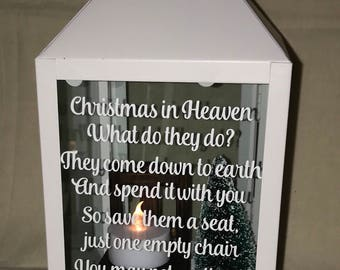 christmas in heaven lantern christmas in heaven memorial christmas in heaven chair christmas decoration for loved one who died
