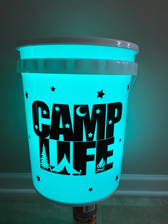 Led Outdoor Personalized Bucket Camping Light Bucket Etsy