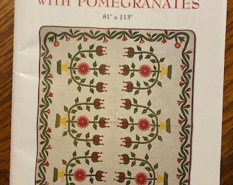 "2004 Rose of Sharon with Pomegranates 81"" x 113"""