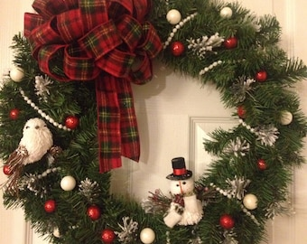 Snowy Christmas Wreath