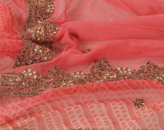 KK Vintage Golden Heavy Dupatta Tissue Silk Zari Hand Beaded Ethnic Stole