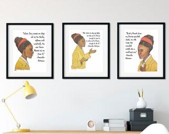Watercolor Art Prints, Set of 3, Amanda Gorman,  Feminist Art, Original Art, Gallery Wall Prints, Wall Decor, Art Prints, Classroom Posters