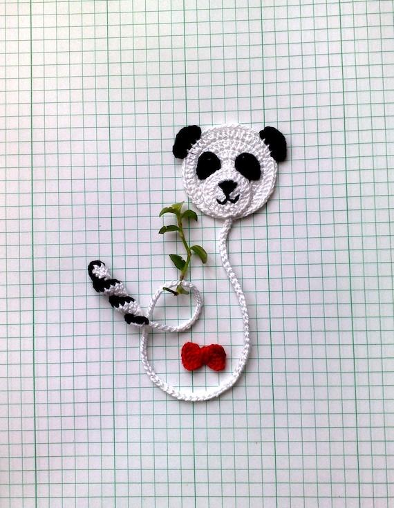 Haak Panda Bladwijzer 98 Cute Panda Bear Bladwijzer Etsy