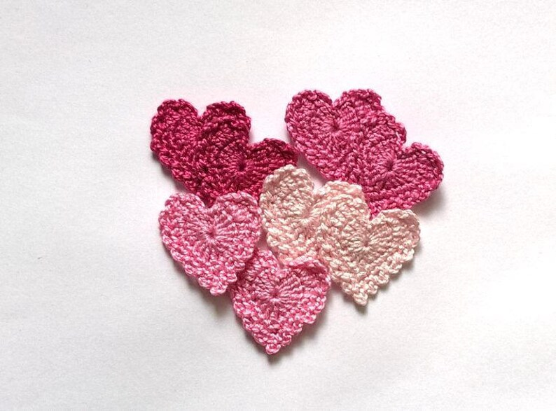 Cuori rosa cotone applique pz bambini camera decorazione etsy