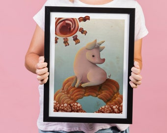 Unipork limited edition A4 print - it's funny, it's yummy!
