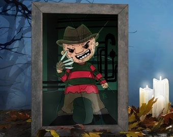 Freddy Krueger - Limited edition A4 print perfect for Halloween and great gift for geeks, movie nerds, 80s kids and horror fans!