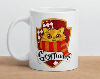 Accio Coffee! Gryffindor Red and gold house mug: magical Mug, School of magic Hogwarts house pride teatime