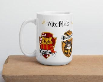 Accio Luck! School of magic Lucky Mug, Potterhead gift idea: Felix felicis, Liques returnutix (Liquid luck, Refilling charm).