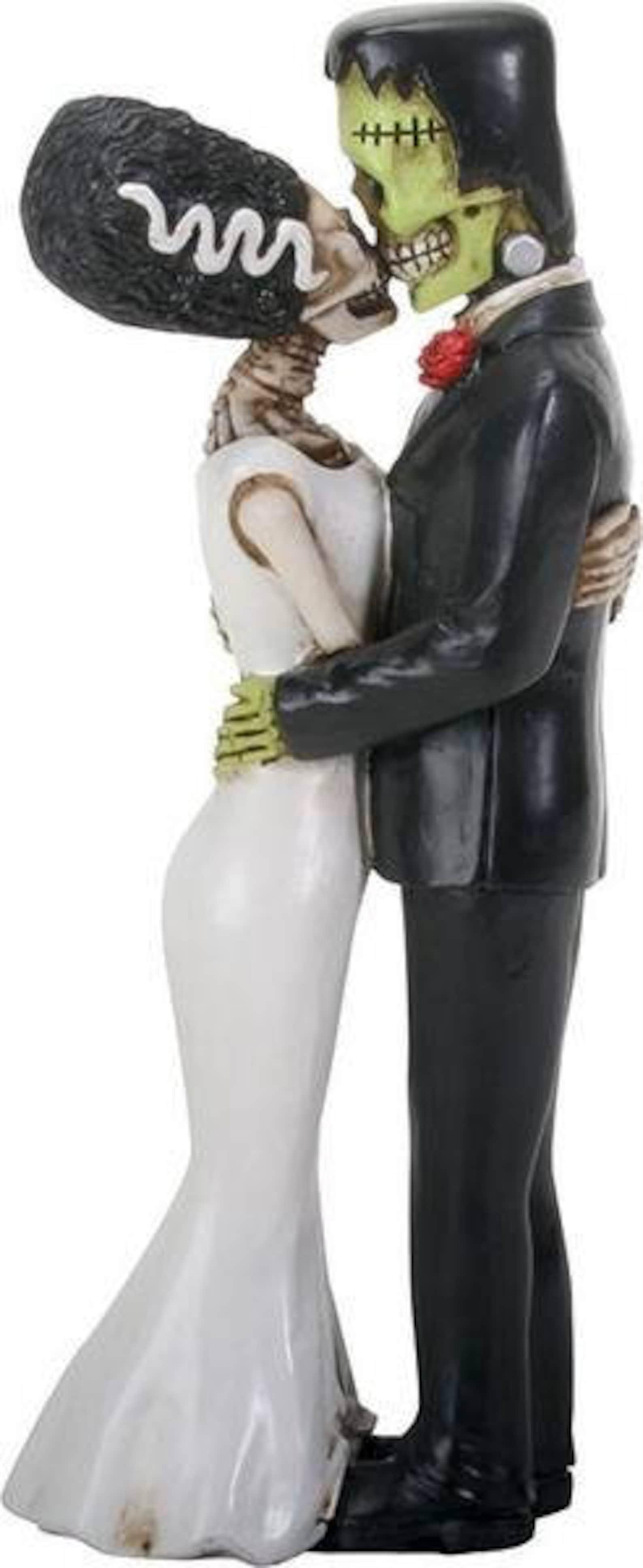 Frankenstein Wedding Cake Toppers