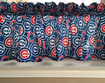 MLB Chicago Cubs Baseball Valance Curtain 55W X 13 L