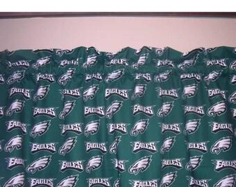 NFL Philadelphia Eagles Football Valance Curtain 56W X 13 L