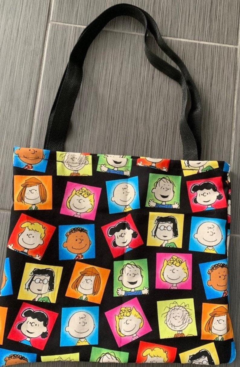 Charlie Brown Peanuts Lined Tote Bag