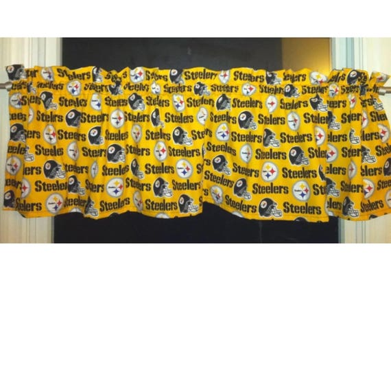 NFL PITTSBURGH STEELERS Football Valance Curtain 54 W X