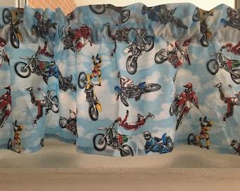 Motorcross bikes dirt bikes Valance curtain