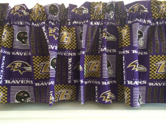Nfl Baltimore Ravens Football Valance Curtain 54 W X Etsy