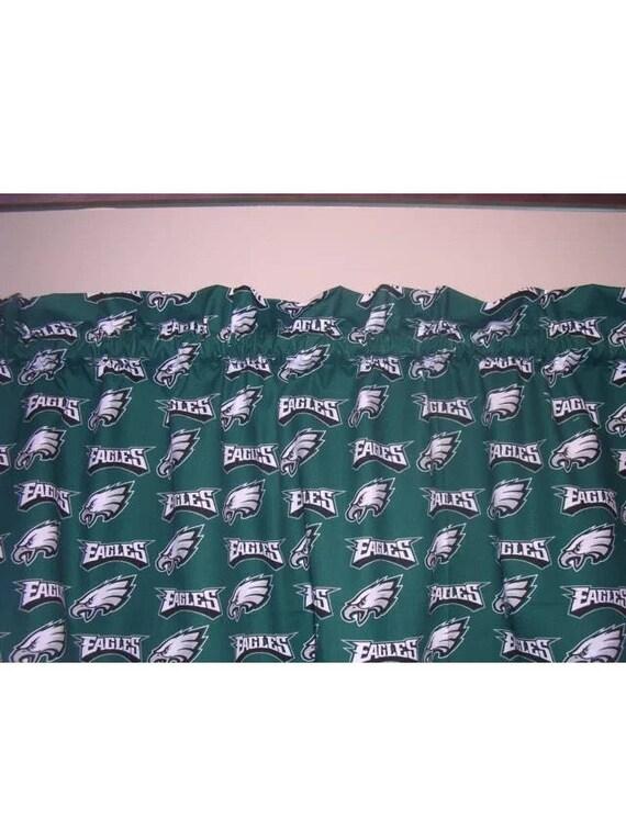Nfl Philadelphia Eagles Football Valance Curtain 56w X Etsy