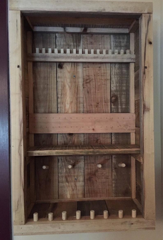 Wall Jewerly Cabinet Wooden Jewerly Box Rustic Jewelry Cabinet Jewerly Storage Box Pallet Jewerly Box Wall Jewerly Organizer
