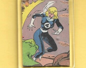 Marvel Fantastic Four Sue Storm Plastic Keychain