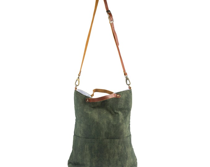 Green Canvas Cross-Body Bag