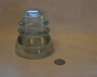Hemingray No. 42 Clear Glass Electrical Insulator ~ Quantities Available