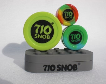 4 pack 710 Snob Silicone None stick Containers for Soaps, lotion, lip balm, salve,