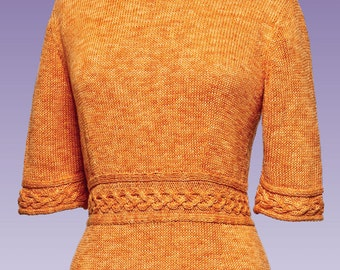 4e4f46f052d28 PDF Knitting Pattern Cable Trim Pullover  175
