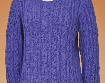 edcdca2bac9fa PDF Knitting Pattern Top-Down Cable Pullover  167