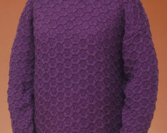 0fd9847498b47 PDF Knitting Pattern Honeycomb Cable Pullover  131