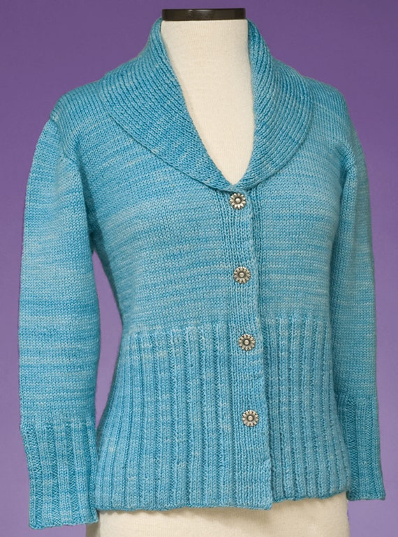 Pdf Knitting Pattern Simple Cardigan 168 Etsy
