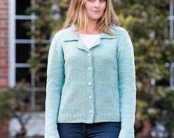PDF Knitting Pattern Anchorage Top-Down Cardigan #120