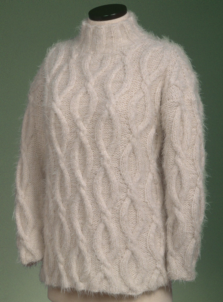 19ffa2849d5f2 PDF Knitting Pattern Simple Cable Pullover 125
