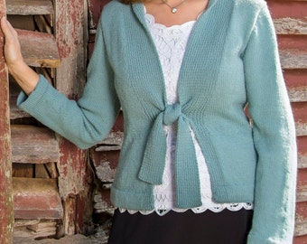 PDF Knitting Pattern Bristol Top-Down Cardigan #108