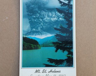 Mt. St. Helens, Eruption, May 18, 1980, Litho Vintage Postcard