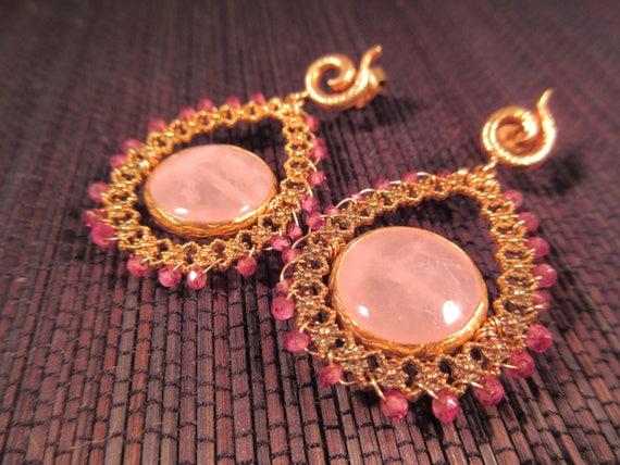 Delicate Blush Pink Earrings