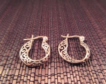 Delicate Sterling Silver Hoop Earrings