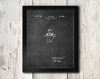 Disney Three Little Pigs Print - Walt Disney Pig Patent - Digital Download