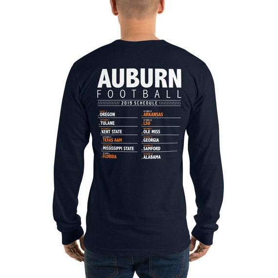 Sec Auburn Football 2019 Schedule Long Sleeve T Shirt Sec Football War Eagle College Game Day Shirt
