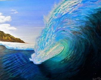 Tahiti turquoise, big waves,island, beach,ocean,tropical