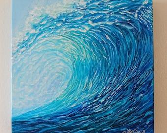 Blue barrel, wave, Hawaii
