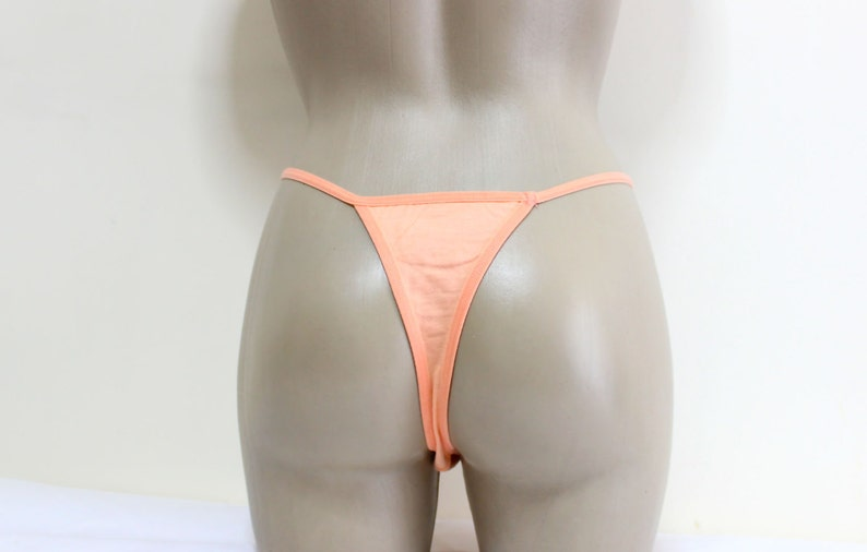 25bafacdc2af G-string Cute Cotton Peach Sexy handmade lingerie panties | Etsy