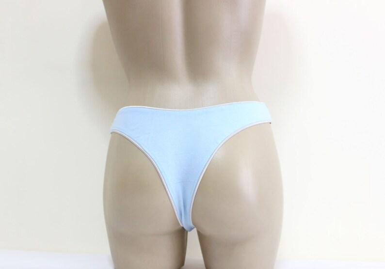 ce160e6c59c4 Comfortable Cotton Blue Sexy G-String Handmade lingerie | Etsy