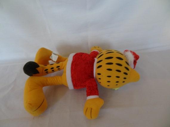 Large Santa Claus Garfield Stuff Animal And Plush Doll Etsy