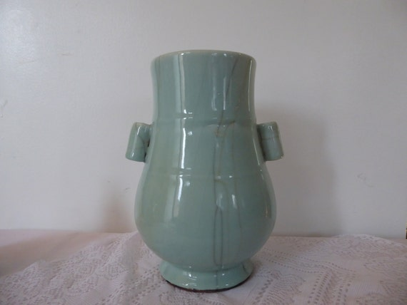 Reproduction Antique Song Dynasty Chinese Green Vase Etsy