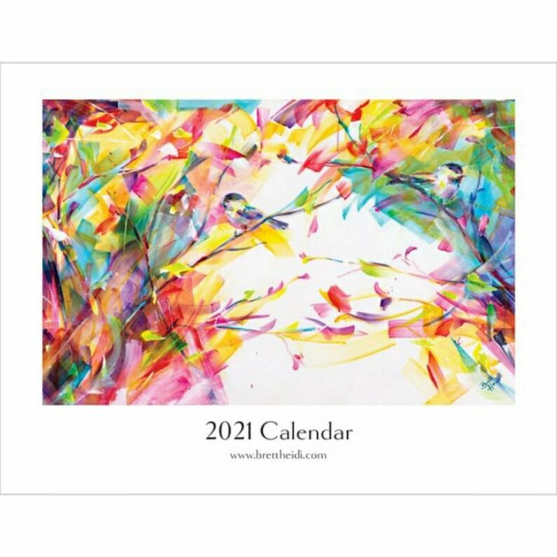 2021 CALENDAR 2021 ART CALENDAR Wall Calendar Animal art image 0