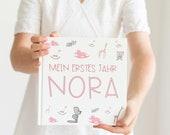 BABYBUCH - personalisiert mit Namen des Babys - Eintragbuch -Babytagebuch - Mein Erstes Jahr -Babys erstes Jahr